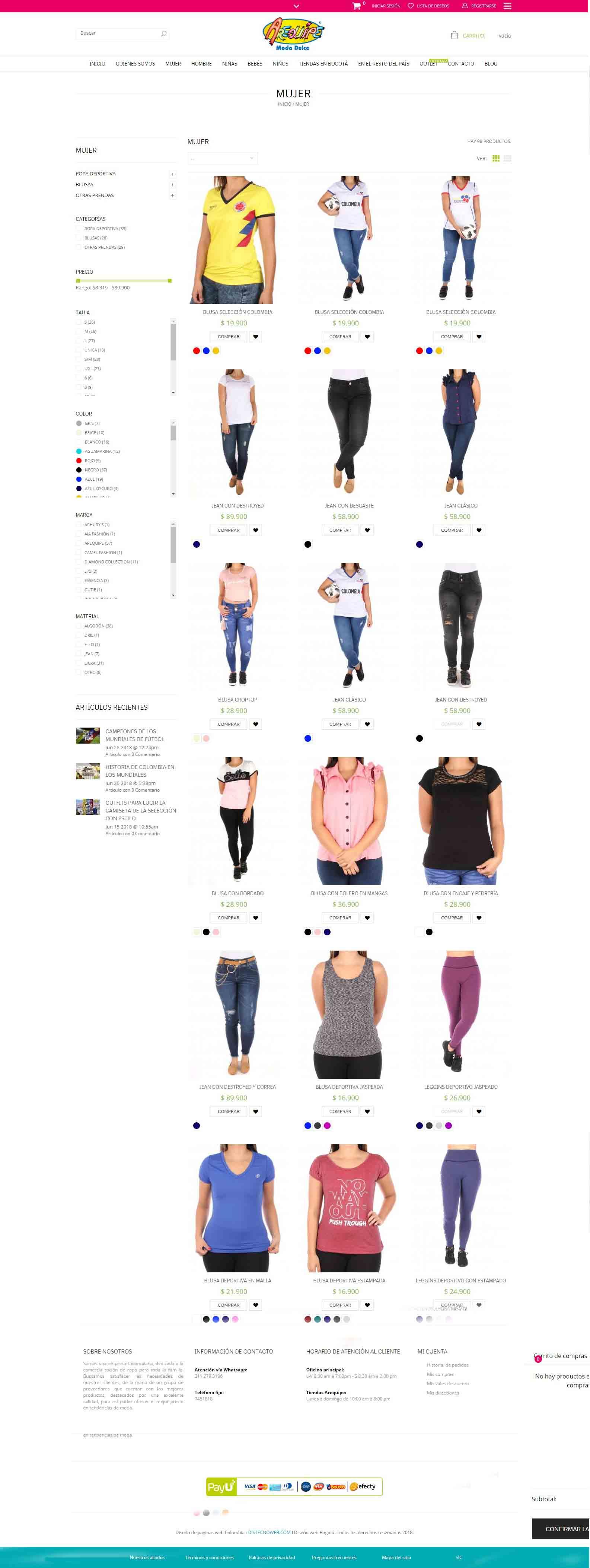 Arequipe.com.co - ropa para toda la familia