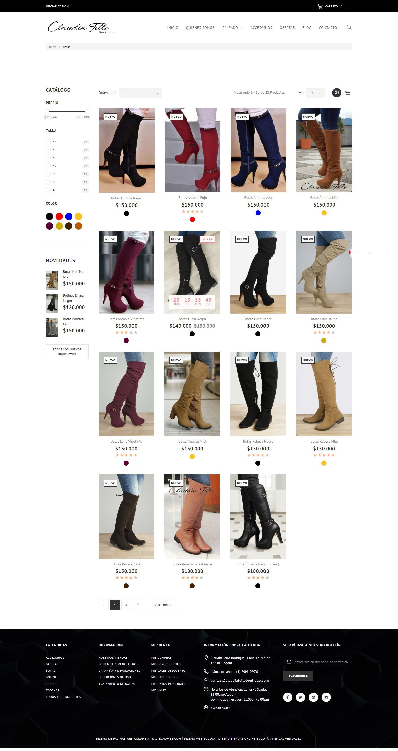 Claudiatelloboutique.com - calzado y accesorios para dama