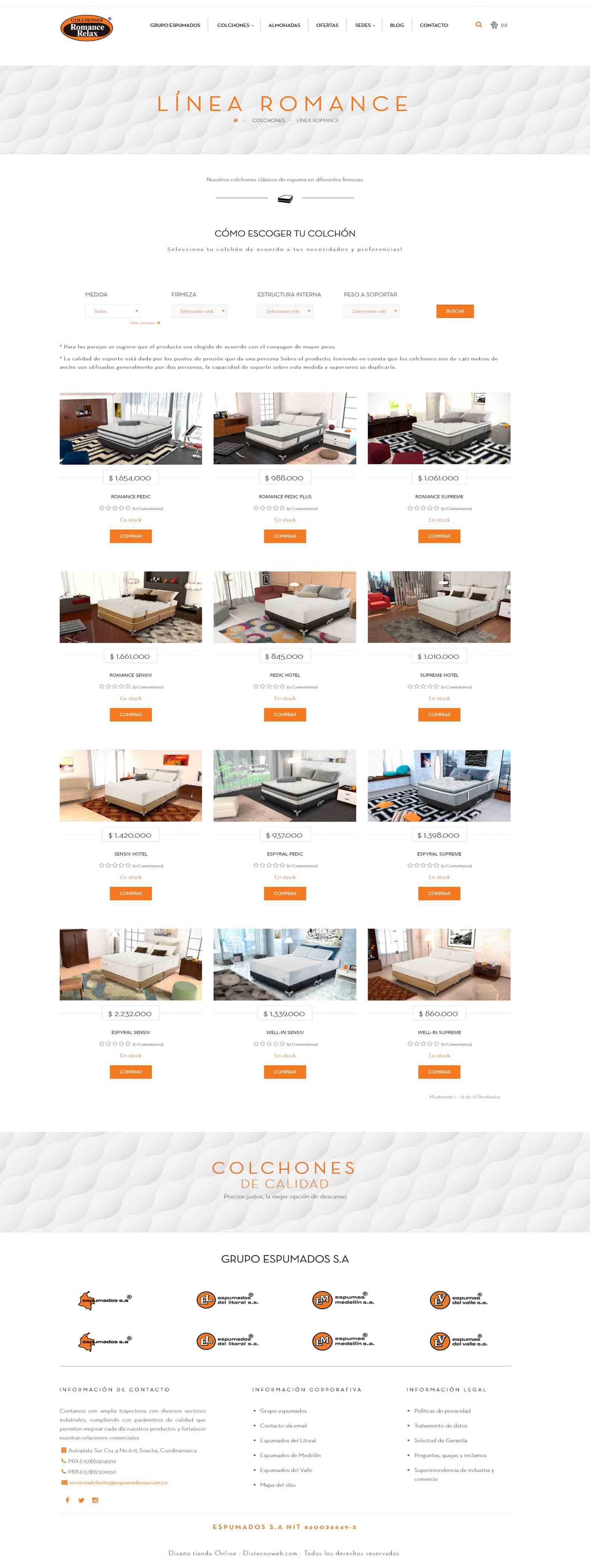 romancerelax.com - de Colchones y almohadas de alta calidad